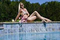 dziecka mamy wakacje Zdjęcie Stock