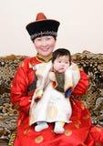 dziecka mongolian kobieta zdjęcia royalty free