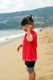 dziecka morze chiński przyglądający Zdjęcia Royalty Free