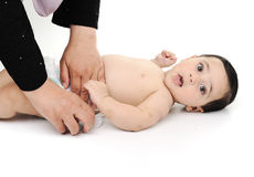 dziecka nagi śliczny odosobniony Fotografia Royalty Free