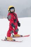 Dziecka narciarstwo Fotografia Royalty Free