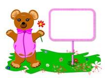 dziecka niedźwiadkowy dziewczyny miś pluszowy Zdjęcia Royalty Free
