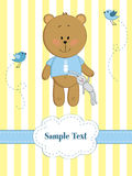 dziecka niedźwiedzia karty powitania miś pluszowy Obrazy Stock
