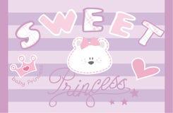 Dziecka niedźwiadkowy Princess royalty ilustracja