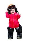 dziecka odzieżowy gogle snowboarder Obrazy Stock