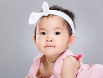 dziecka ojca dziewczyny podołka portreta s obsiadanie Fotografia Royalty Free