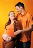 dziecka pary oczekiwanie Zdjęcie Royalty Free