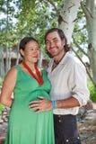 dziecka pary oczekiwanie szczęśliwy Obrazy Royalty Free