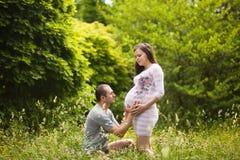 dziecka pary szczęśliwy czekanie Zdjęcie Royalty Free