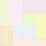 dziecka patchworku wzór bezszwowy Fotografia Stock