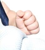 dziecka pięści ręka robi s Zdjęcie Stock