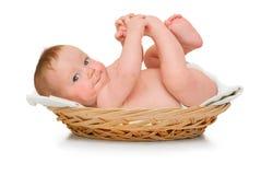 dziecka piękny chłopiec kłamstw ochraniacz Zdjęcia Royalty Free