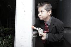 dziecka pistoletu kostiumu potomstwa Zdjęcie Royalty Free