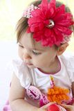 Dziecka poziewanie, warczenie/ Fotografia Stock