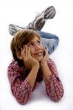 dziecka przodu przyglądający oddolny widok fotografia stock