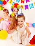 Dziecka przyjęcie urodzinowe. Zdjęcia Stock