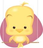 dziecka ptaka śliczny kolor żółty Obrazy Royalty Free