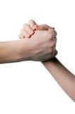 dziecka ręki chwyty obsługują s Zdjęcie Stock