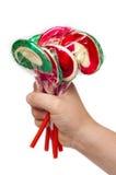 dziecka ręki cukierki Zdjęcie Royalty Free