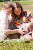 dziecka rodzinni czekania potomstwa obraz stock
