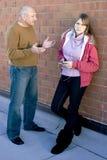 dziecka rozmowy rodzic Zdjęcia Stock