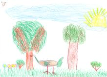 dziecka rysunku farby ołówek zdjęcia stock