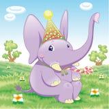 dziecka słonia przyjęcie Obrazy Royalty Free