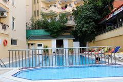 Dziecka ` s basen w Kleopatra plaży Hotelowy Alanya, Turcja Obrazy Stock