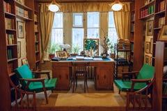 Dziecka ` s biblioteka Żadny 266, budujący sławnym Radzieckim dziecka ` s pisarzem Korney Chukovsky Peredelkino, Rosja Obrazy Royalty Free