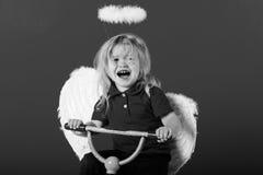 Dziecka ` s emocje płaczący i nieszczęśliwy, uczuciu i emocjo, valentines dnia wakacje Fotografia Royalty Free