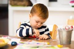 Dziecka ` s gra, rysuje Zdjęcie Royalty Free