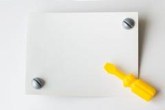 Dziecka ` s klingerytu zabawka Dziecka ` s narzędzie młot, cążki, screwdr Obraz Stock