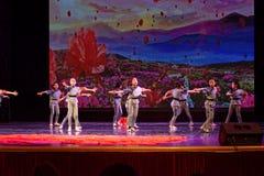 Dziecka ` s korpusów Pekin tana akademia ocenia próbną znakomitą dziecka ` s tana nauczania osiągnięcia wystawę Jiangxi Obrazy Stock