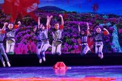 Dziecka ` s korpusów Pekin tana akademia ocenia próbną znakomitą dziecka ` s tana nauczania osiągnięcia wystawę Jiangxi Zdjęcie Stock