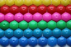 Dziecka ` s mozaika tło barwiąca dziecka ` s mozaika barwioni lampasy plastikowi szczegóły dziecka ` s mozaika Zdjęcie Royalty Free