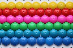 Dziecka ` s mozaika tło barwiąca dziecka ` s mozaika barwioni lampasy plastikowi szczegóły dziecka ` s mozaika Fotografia Royalty Free