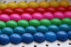 Dziecka ` s mozaika tło barwiąca dziecka ` s mozaika barwioni lampasy plastikowi szczegóły dziecka ` s mozaika Zdjęcia Royalty Free