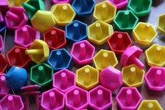 Dziecka ` s mozaika tło barwiąca dziecka ` s mozaika mali plastikowi szczegóły dziecka ` s mozaika Fotografia Stock