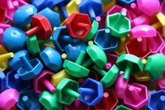 Dziecka ` s mozaika tło barwiąca dziecka ` s mozaika mali plastikowi szczegóły dziecka ` s mozaika Zdjęcie Royalty Free