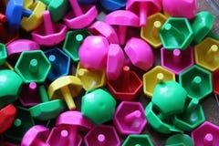 Dziecka ` s mozaika tło barwiąca dziecka ` s mozaika mali plastikowi szczegóły dziecka ` s mozaika Obrazy Royalty Free