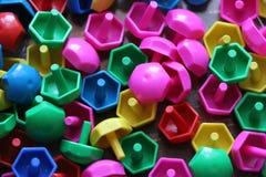 Dziecka ` s mozaika tło barwiąca dziecka ` s mozaika mali plastikowi szczegóły dziecka ` s mozaika Obraz Stock