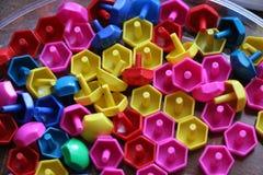 Dziecka ` s mozaika tło barwiąca dziecka ` s mozaika mali plastikowi szczegóły dziecka ` s mozaika Obraz Royalty Free