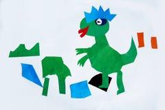 Dziecka ` s obrazek: Aplikacja papier Obrazy Stock