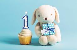 Dziecka ` s pierwszy świętowania urodzinowy temat Zdjęcia Stock