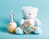 Dziecka ` s pierwszy świętowania urodzinowy temat Obraz Stock