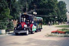 Dziecka ` s pociąg w parku kultura Ola 2018 zdjęcia stock