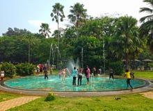Dziecka ` s rozrywka w parkowym Kolombo zdjęcie stock