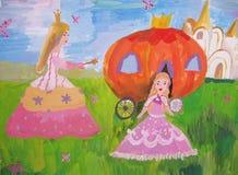 Dziecka ` s rysunkowa czarodziejka bajka Obrazy Royalty Free