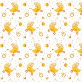Dziecka ` s wzoru kolor żółty Fotografia Royalty Free