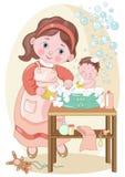 Dziecka skąpanie ilustracji